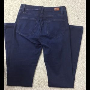 Paige high rise bell canyon blue jeans size 27